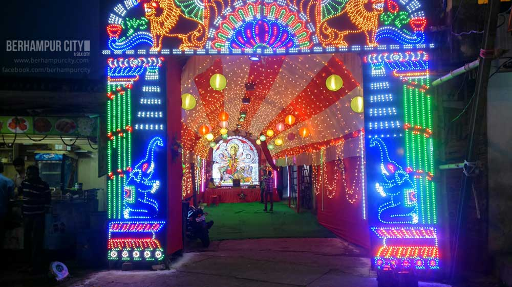 Durga Puja at Subbarao Junction Berhampur